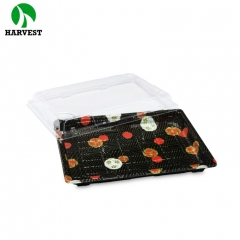 Harvest HP-11 Disposable Plastic Large Sushi Food Container Tray