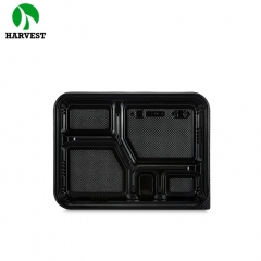 Plastic bento food packaging multi-divided container box for takeaway food
