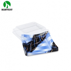 Harvest BF-40 Square Plastic Disposable To-go Sushi Container