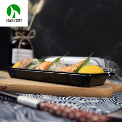 Harvest PLA-02 Eco Friendly PLA Plastic Biodegradable Sushi Containers