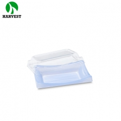 Harvest BF-20 Rectangle Sushi Takeaway Disposable Plastic platter