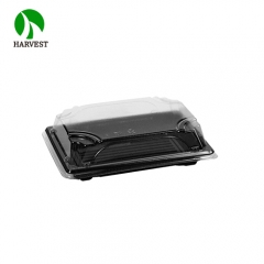 Harvest PLA-03 One Time Use Biodegradable PLA Sushi Container