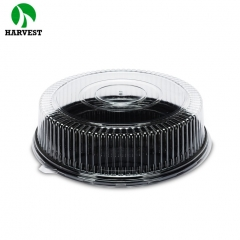 Disposable clear plastic baking cake box with lid