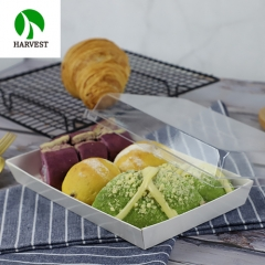 Harvest PR-09 Disposable Cardboard Paper Sushi Tray With Plastic Lid